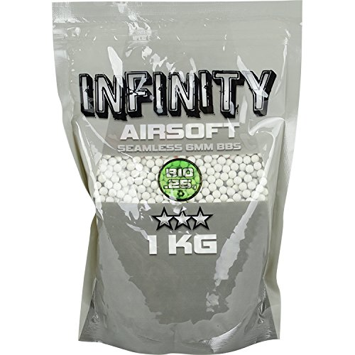 20g Biodegradable Soft Air Bbs - Valken Airsoft BBS - Infinity 0.25G BIO, 4,000 Count, White