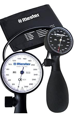 Riester - R1 Aneroid Shock-Proof Sphygmomanometer - - Black face