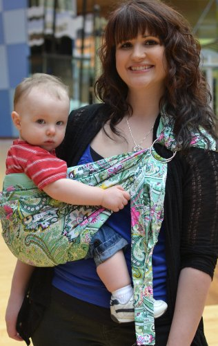 Lite-on-Shoulder Ring/pouch hybrid Baby Sling