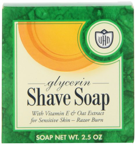 Van Der Hagen Glycerin Shave Soap, 2.5-Ounce Boxes (Pack of 12)
