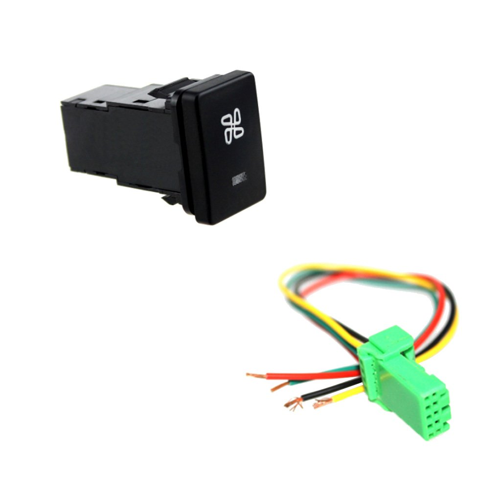Baosity Dc12v 4pole Push Button Switch With Wiring Harness For Schematic Symbol Toyota Camry Rav4 Corolla Driving Recorder