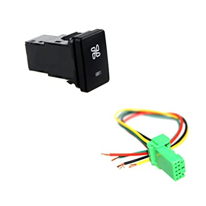 Amazon.com: Baosity DC12V 4Pole Push on Switch With Wiring ... on automotive wire connector, automotive wire gauge, automotive wire clamp, automotive wire terminals, automotive wire assortment, automotive wire cover,