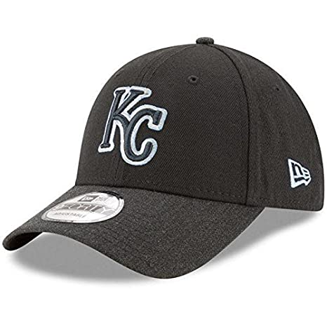 new product 0691b a7078 Image Unavailable. Image not available for. Color  Kansas City Royals New  Era Heathered The League Black Adjustable Hat Cap