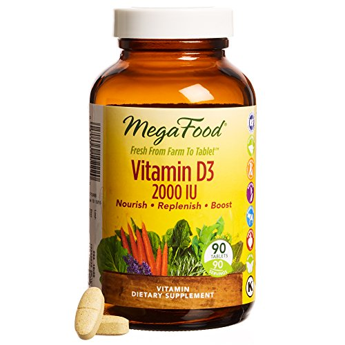 MegaFood - Vitamin D-3 2000 IU, Promotes Healthy Immune Function & Overall Well-being, 90 Tablets
