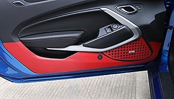 In fibra di carbonio porta Plank pellicola protettiva anti Kick porta sticker cover Trim pezzi per auto di