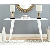 Safavieh Home Collection Manny Mid-Century White Lacquer Console Table
