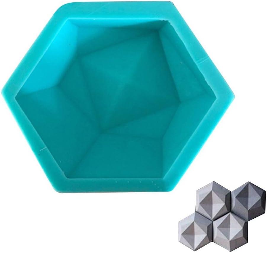 Lembeauty DIY ladrillo de Pared moldes de Silicona geométrica Pared hormigón Molde de Pared Azulejos Hexagon Hecho a Mano Silicona Molde para TV Fondo decoración