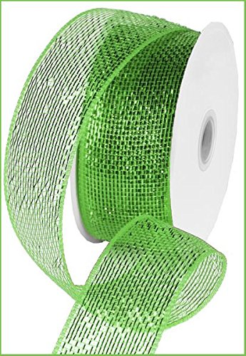 Metallic Poly Deco Mesh Ribbon (2.5