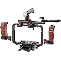 CAMTREE HUNT BMCC Pro Cage Rig for Blackmagic Cinema Camera/Production Camera 4K (CH-CPRO-BMC) with Top & Side Handles, Dovetail Tripod Plate & EVF Mount