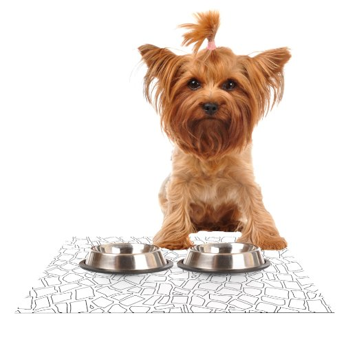 Kess InHouse Project M British Mosaic  Feeding Mat for Pet Bowl, 24 by 15-Inch