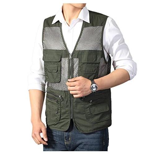 Kedera Men's Mesh Multi-Pockets Vest