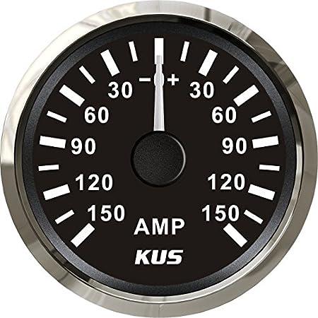 Kus impermeable Ampere Gauge amperí metro AMP Meter 150 Un con actual Sensor 52 mm (2 ') con retroiluminació n