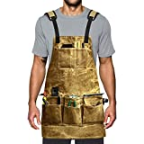 Fuloon Waterproof Waxed Canvas Tool Apron (Yellow)