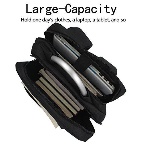 Rucksack Laptop Tasche Schule Rucksack Wasserdichte Daypack für Männer Frauen, Arbeit, Reise, College (Grau) Schwarz