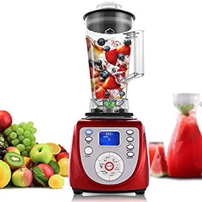 MeyKey Countertop Blenders,30500RPM High Speed Professional Smoothie Blender,2000W,Red