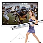 New Portable Projection Screen Tripod Pull-up Matte White TS