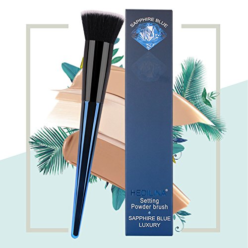 Foundation Makeup Brushes, Flat Top Kabuki for Face Brush - Premium Quality Synthetic Dense-Bristles Perfect For Blending Liquid, Cream or Flawless Powder Cosmetics - Buffing, Stippling