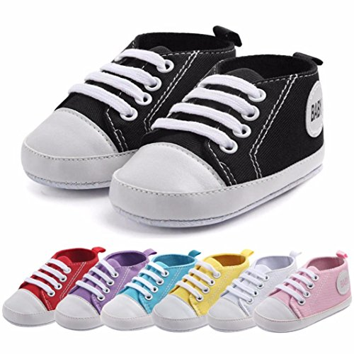 BZLine Baby Boys Girls Toddlers Canvas Sneakers Casual Outdoor Sneaker Schwarz