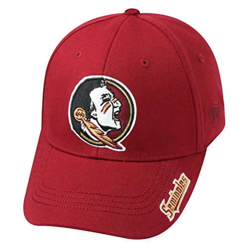 Top of the World NCAA-Premium Collection-One-Fit-Memory Fit-Hat Cap-Florida State Seminoles