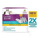Comfort Zone MultiCat Calming Diffuser Kit, New 2X Pheromones for Cats Formula, 3 Diffusers and 6 Refills