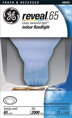 GE Lighting 48692 65 Watt Reveal Indoor Recessed & Track Flood Light Bulb (48692 Bulb Reveal Ge)