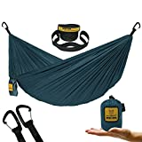 Wise Owl Outfitters Ultralight Camping Hammock with Tree Straps - Feather Light Lightweight Compact Durable Ripstop Parachute Nylon Hammocks - Outdoor Travel Backpacking Hiking - Blue