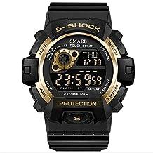 SMAEL Men Sports Watches Man Electronic LED Digital Watch Male 30M Waterproof Relogio Masculino