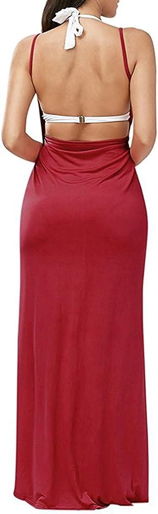 Womens Beach Cover Up Plus Size Spaghetti Strap Backless Bikini Wrap Long Dress