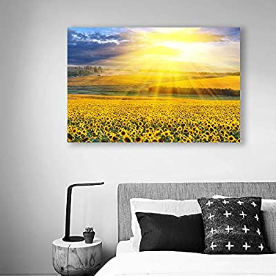 Canvas Wall Art for Living Room,Bedroom Home Artwork Paintings Sunflower Ready to Hang - 12x18 inches
