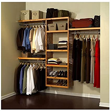 Amazon Com John Louis Home Collection Deluxe Wood Closet System