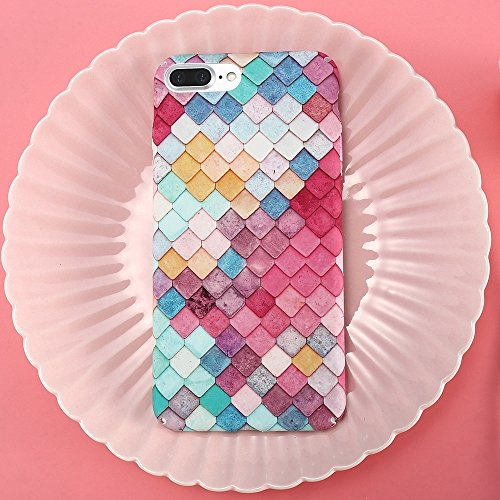 Mobiltelefonhülle - Floveme für iPhone 7 Plus 3D Skalen Bunte Diamond Grid Pattern Schutzmaßnahmen zurück Fall Fall