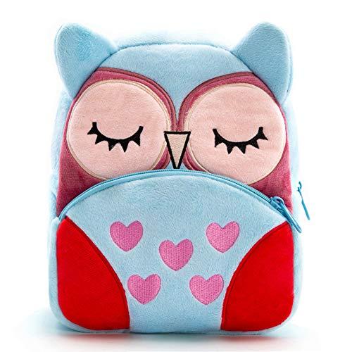Nice Choice Cute Toddler Backpack Toddler Bag Plush Animal Cartoon Mini Travel Bag for Baby Girl Boy 1-6 Years (Owl) -
