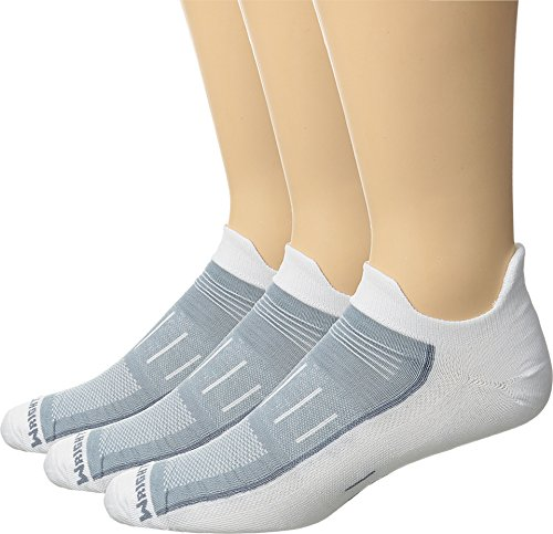 Wrightsock Unisex Endurance Double Tab 3-Pack White Large
