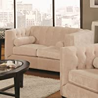 Coaster Home Furnishings Transitional Loveseat, Almond