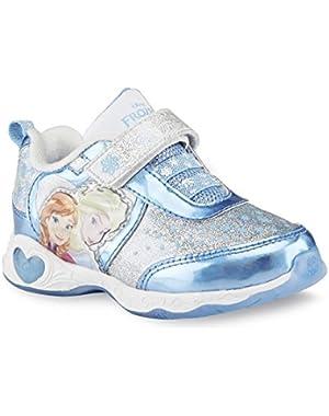 Toddler Girl's Frozen Sneaker, Silver/blue Light-up
