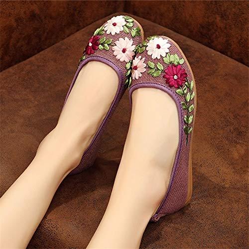 38 Qiusa Chaussures Taille Violet couleur Bleu Eu X1BSqx