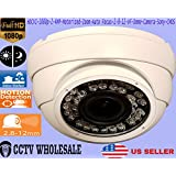 HDCVI-1080p-2-4MP-Motorized-Zoom-Auto Focus-2-8-12-VF-Dome-Camera-Sony-CMOS-COMES IN WHITE OR GREY/GRAY PLEASE MESSAGE FOR COLOR CHOICE