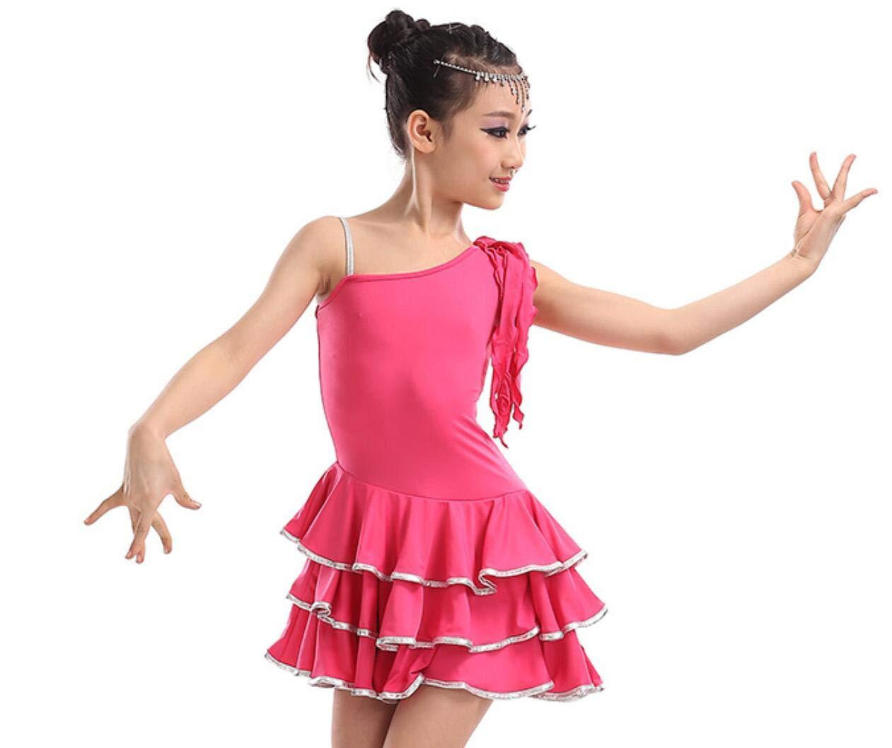 ZYLL Costumes De Danse Latine pour Enfants, Costumes De CompéTition pour Filles en Latin