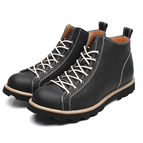 Color Bnd Top Moda Negro Liso Impermeables Para Desgaste Redondo Casual Durable; High Botines Botas color De Negro shoes Eu 43 Tamaño Hombre Soportar zrqwpzS