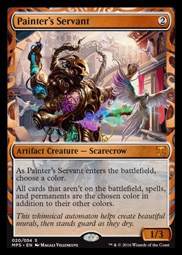 Magic: the Gathering - Painter39;s Servant (020/054) - Masterpiece Series: Kaladesh & Aether Revolt Inventions - Foil ()