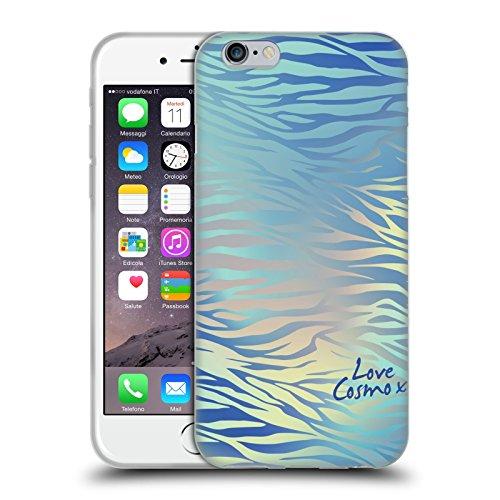 Official Cosmopolitan Shiny Zebra Iridescence Soft Gel Case for Apple iPhone 6 / 6s