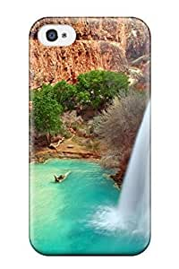 (TBybpIb2654sdzMt)durable Protection Case Cover For Iphone 4/4s(arizona Waterfalls)