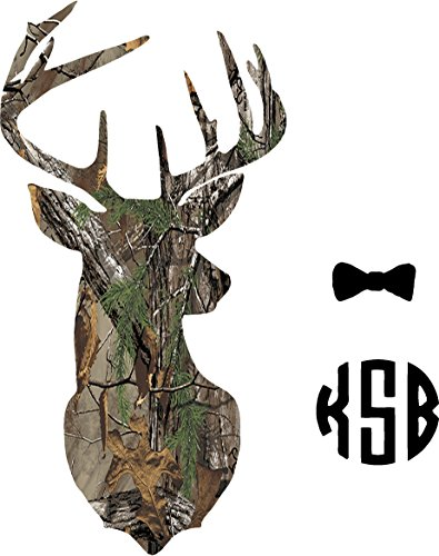 Yeti Cup Monogram Deer Camo Sticker Decal LEAVE ME YOUR INITIALS AND...