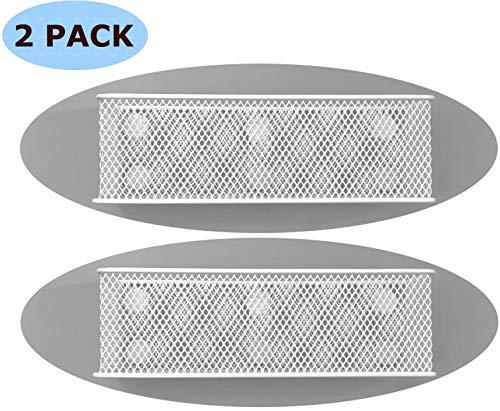 (Lenotion Premium Magnetic Locker Organizer Whiteboard Marker Holder Pencil Basket Refrigerator Organizer - 7.8