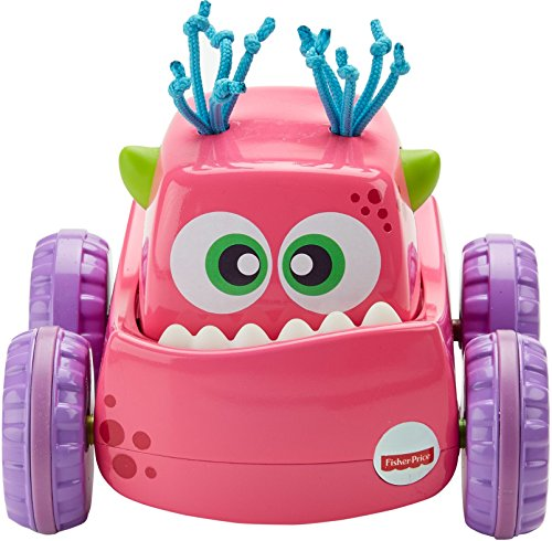 [Fisher-Price Press 'N Go Monster Truck, Pink] (Fisher Price Car Toy)