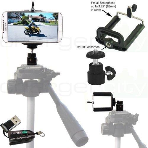 ChargerCity 360º Swivel 1/4-20 Tripod Adapter Mount & Smart