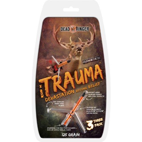 Dead Ringer Trauma 125 Grain 2-Blade for Broadheads (3-Pack), ()