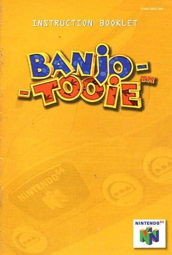 banjo tooie n64 instruction booklet nintendo 64 manual only rh amazon com nintendo 64 instruction booklet Super Nintendo