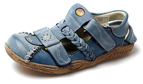 TMA Leder Damen Sommer Schuhe Sandalen 1335 Blau