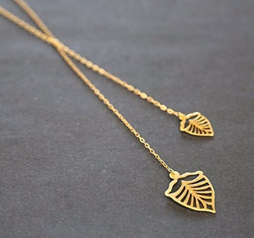 handmade-designer-leafs-necklacegold-lariet-necklace